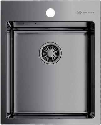 Кухонная мойка Omoikiri AKISAME 41-GM нерж. сталь/вороненая сталь (4973094) кухонная мойка omoikiri akisame 78 gm r нерж сталь вороненая сталь 4973100