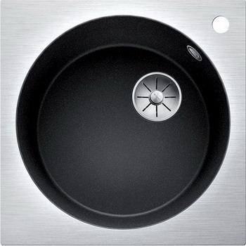 Кухонная мойка Blanco ARTAGO 6-IF/A антрацит с отводной арматурой InFino 521766 кухонная мойка blanco artago 6 серый беж с отводной арматурой infino 521764