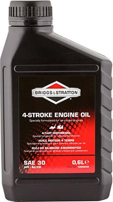 Масло для 4-тактных двигателей Briggs & Stratton SAE 30 0 6 л 100005 E масло dde 1l синтетическое red ss 2t для 2 х тактных двигателей