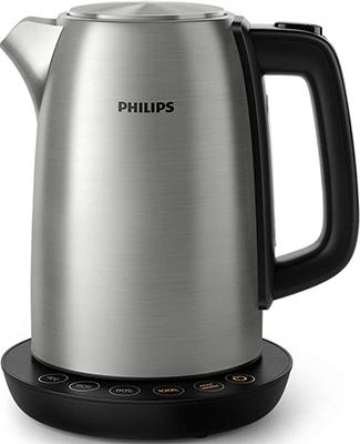 Чайник электрический Philips HD 9359/90 соковыжималка philips hr1837 00 500 вт нержавеющая сталь чёрный