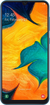 Смартфон Samsung Galaxy A30 SM-A305F 32Gb синий смартфон samsung galaxy a30 2019 sm a305 32gb black