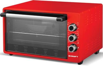 Электропечь Kraft KF-MO 3201 R красный цена