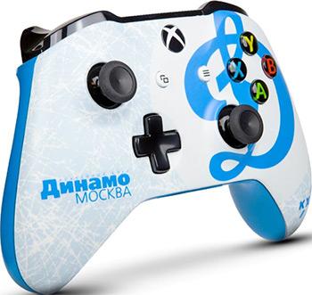 Геймпад Microsoft Xbox One КХЛ ''Динамо Москва'' microsoft кхл все хоккей беспроводной геймпад для xbox one