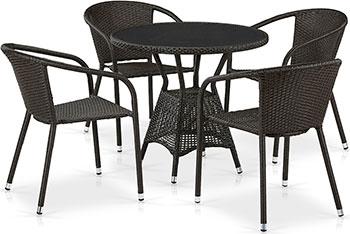 Комплект мебели Афина T 707 ANS/Y 137 C-W 53 4 Pcs Brown
