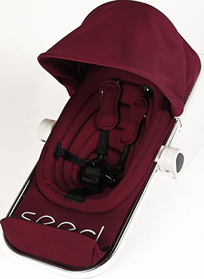 Прогулочный блок c подножкой Seed Papilio Bordeaux 94841 прогулочный блок для второго ребенка egg tandem seat petrol blue