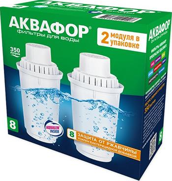 Сменный модуль для систем фильтрации воды Аквафор В8 (комплект 2 шт) цена и фото