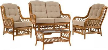 Комплект мебели RattanDesign для отдыха Kelly-2 МИ цвет Коньяк комплект для отдыха черчилль chorchill нат ротанг доступные цвета коньяк