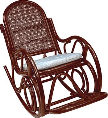 Кресло-качалка RattanDesign MOSCOW МИ с подушкой JC-3068 цвет Коньяк ardenna gk0516 3068