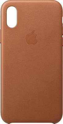 Чехол (клип-кейс) Apple Leather Case для iPhone XS цвет (Saddle Brown) золотисто-коричневый MRWP2ZM/A