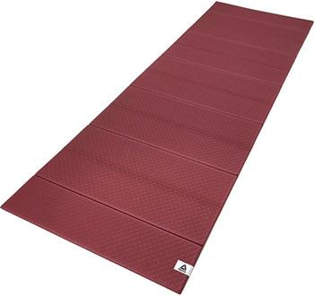 Складной коврик (мат) для йоги Reebok цвет домашнее вино RAYG-11050RW цена