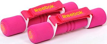 Гантель Reebok с мягкими накладками 0 5 кг (пара) RAWT-11060MG лиловая гантель reebok dumbbell black цвет черный 5 кг