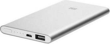 Внешний аккумулятор Xiaomi 5000mAh Mi Power Bank 2 Silver (PLM10ZM) VXN4236GL xiaomi mi power bank 5000mah silver