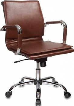 Кресло Бюрократ CH-993-Low/Brown коричневый кресло бюрократ ch 868axsn brown коричневый