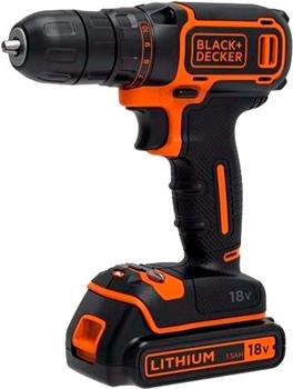 Дрель-шуруповерт Black&Decker BDCDC18K1B черно-оранжевый фото