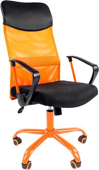 цена на Кресло Chairman 610 15-21 черный TW оранжевый/CMet 00-07021400