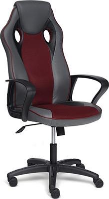 Кресло Tetchair RACER кож/зам/ткань металлик/бордо 36/13 13230 кресло tetchair trendy кожзам ткань бордо бордо 36 7 13
