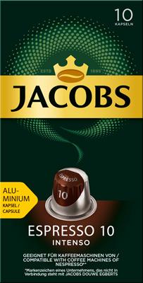 цена Кофе капсульный Jacobs Espresso 10 Intenso онлайн в 2017 году