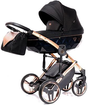коляски 2 в 1 Коляска детская 2 в 1 Junama ONEX JON-02 (черный/медь/рама медь) JON-02