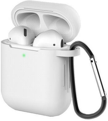Фото - Чехол для наушников Eva для Apple AirPods 1/2 с карабином - Белый (CBAP40W) сифон для душевого поддона unicorn easyopen с латунным выпуском 1 1 2 d40 с отводом g311e