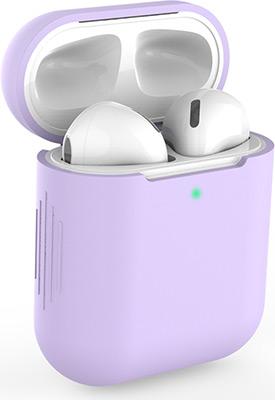 Фото - Чехол силиконовый Eva для наушников Apple AirPods 1/2 - Фиолетовый (CBAP04PR) ваза для цветов art east жостово 30 см бочка фиолетовый