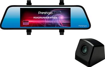 Автомобильный видеорегистратор Prestigio RoadRunner 410DL черный автомобильный видеорегистратор prestigio roadrunner cube fhd 30fps 1 5 2 mp camera 140° 150 mah wifi g sensor red black metal plastic a3pcdvrr530wr