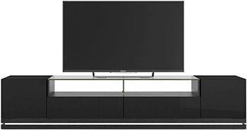 Фото - Тумба под телевизор Manhattan RENNES ТВ с LED подсветкой BLACK GLOSS/ BLACK MATTE PA16253 484 х 2170 х 448 тумба под телевизор sonorous std 160 i wht wht bs