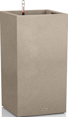 Фото - Напольное кашпо с автополивом Lechuza CANTO Stone 40 колонна с субстратом в комплекте пластик бежевое 29л 13621 кашпо lechuza canto 14см графит с автополивом