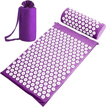 Набор: коврик и валик для акупунктуры CleverCare цвет фиолетовый PC-03P