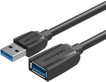 Фото - Кабель-удлинитель Vention USB 3.0 AM/AF - 1м Black Edition (VAS-A45-B100) кабель vention type c m usb 2 0 am black edition 1м vas a 46 b 100