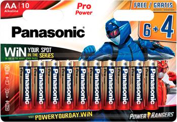 Батарейки щелочные Panasonic AA Pro Power в блистере 10 шт. (6 и 4) (LR6XEG/10B4FPR) батарейки щелочные panasonic aa pro power в блистере 10 шт 6 и 4 lr6xeg 10b4fpr