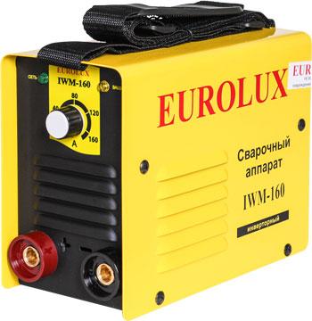 Сварочный аппарат Eurolux IWM 160 инвертор quattro elementi a 160 160 а пв 60% до 4 0 мм 2 9 кг 160 240 в