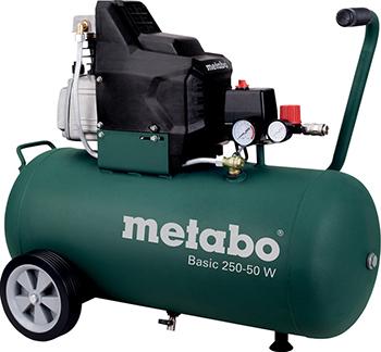 Компрессор Metabo Basic 250-50 W( 601534000) компрессор metabo mega 350 100 w 601538000