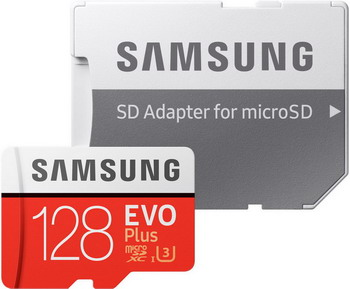 Фото - Карта памяти Samsung 128 GB MicroSDXC class 10 UHS-I EVO+ MB-MC 128 GA/RU майка лунокот размер 128 бледно розовый