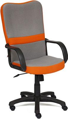 Кресло Tetchair СН757 (ткань серый/оранжевый С27/С23) кресло tetchair baggi ткань серый синий с27 с24