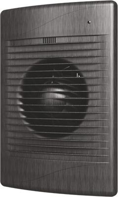 Вентилятор вытяжной с обратным клапаном DiCiTi D 125 декоративный (STANDiCiTi DARDiCiTi D 5C black Al)
