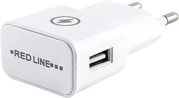 СЗУ Red Line 1 USB (модель NT-1A) 1A и кабель 8pin для Apple белый red line nt 1a black сетевое зарядное устройство кабель micro usb