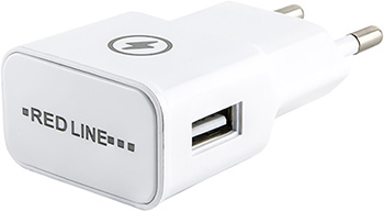 СЗУ Red Line 1 USB (модель NT-1A) 1A и кабель 8pin для Apple белый сзу samsung usb microusb 1a eta0u80ebegstd