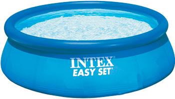 Надувной бассейн для купания Intex Easy Set 396х84см 7290л 28143 надувной бассейн для купания intex easy set самолеты 183х51 см