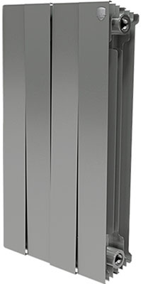 цена на Водяной радиатор отопления Royal Thermo PianoForte 500/Silver Satin - 4 секц.