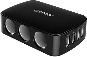 Автомобильное зарядное устройство Orico MP-4U3S (черный) автомобильное зарядное устройство orico uch c1 черный