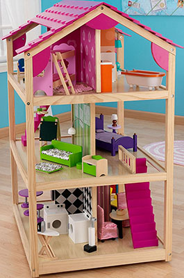 Кукольный домик для Барби KidKraft Самый роскошный 65078_KE кукольный домик kidkraft флоренция с мебелью и куклами dy 0103