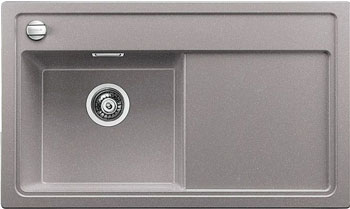 Кухонная мойка Blanco ZENAR 45 S (чаша слева) алюметаллик с кл.-авт. InFino кухонная мойка blanco zenar 45 s чаша слева белый с кл авт infino