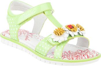 цена Туфли открытые Kapika 33285П-1 33 размер цвет зеленый онлайн в 2017 году