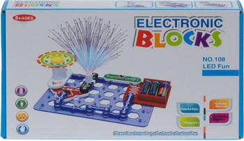 Конструктор Electronic Blocks Эксперименты со светодиодным освещением YJ 188170489 1CSC 20003429 конструктор electronic blocks 8 в 1 yj 188180000 1csc 20003435