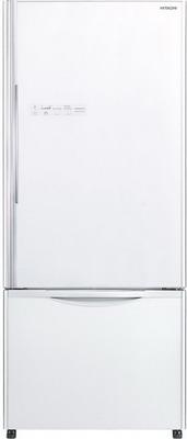 Двухкамерный холодильник Hitachi R-B 502 PU6 GPW белое стекло