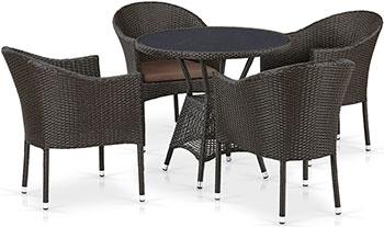 Комплект мебели Афина T 707 ANS/Y 350-W 53 4 Pcs Brown