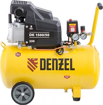 Компрессор DENZEL DK 1500/50Х-PRO 58064 компрессор denzel рс 1 6 180 1100вт 180л мин 6л