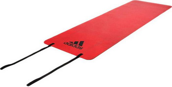 Тренировочный коврик (мат) для фитнеса Adidas ADMT-12234OR комбинезон для йоги и фитнеса без рукавов грация цветная agyoga серый 164см 42 44