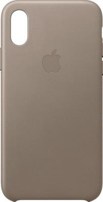 Чехол (клип-кейс) Apple Leather Case для iPhone XS цвет (Taupe) платиново-серый MRWL2ZM/A чехлы для телефонов apple чехол клип кейс apple для iphone 7 mq0l2zm a серый
