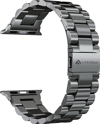 Фото - Ремешок для часов Lyambda из нержавеющей стали для Apple Watch 38/40 mm KEID DS-APG-02-40-BL Black смотреть ремешок ремешок весна бар ссылка pin remover ремонт инструмента из нержавеющей стали